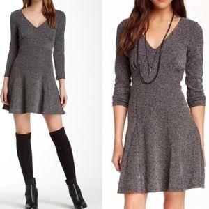 Free People Heart Stopper Tweed Knit Grey Dress XS